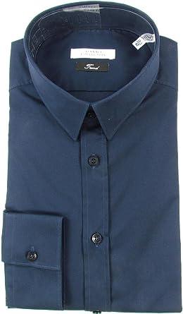 Versace - Camisa de vestir - con botones - para hombre Azul ...