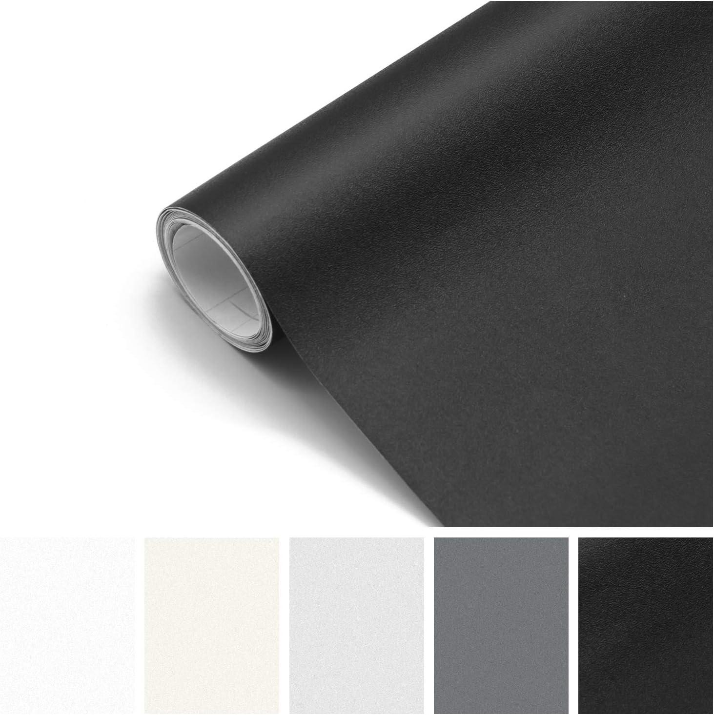 Papel Adhesivo para Muebles Pared Cocina Papel Pintado Autoadhesivo de PVC para Vinilos Decorativos Mate Negro 61 x 500 cm: Amazon.es: Bricolaje y herramientas