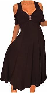 6cb5de6424c27f Funfash Plus Size Women Empire Waist A Line Slimming Cocktail Dress Made in  USA