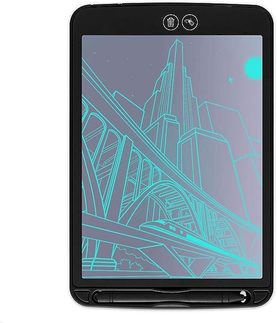 カラフルなポータブルLCD 8.5 10 12インチデジタルライティングタブレットグラフィック描画タブレットボード電子手書き子供ギフト,黒,8inch