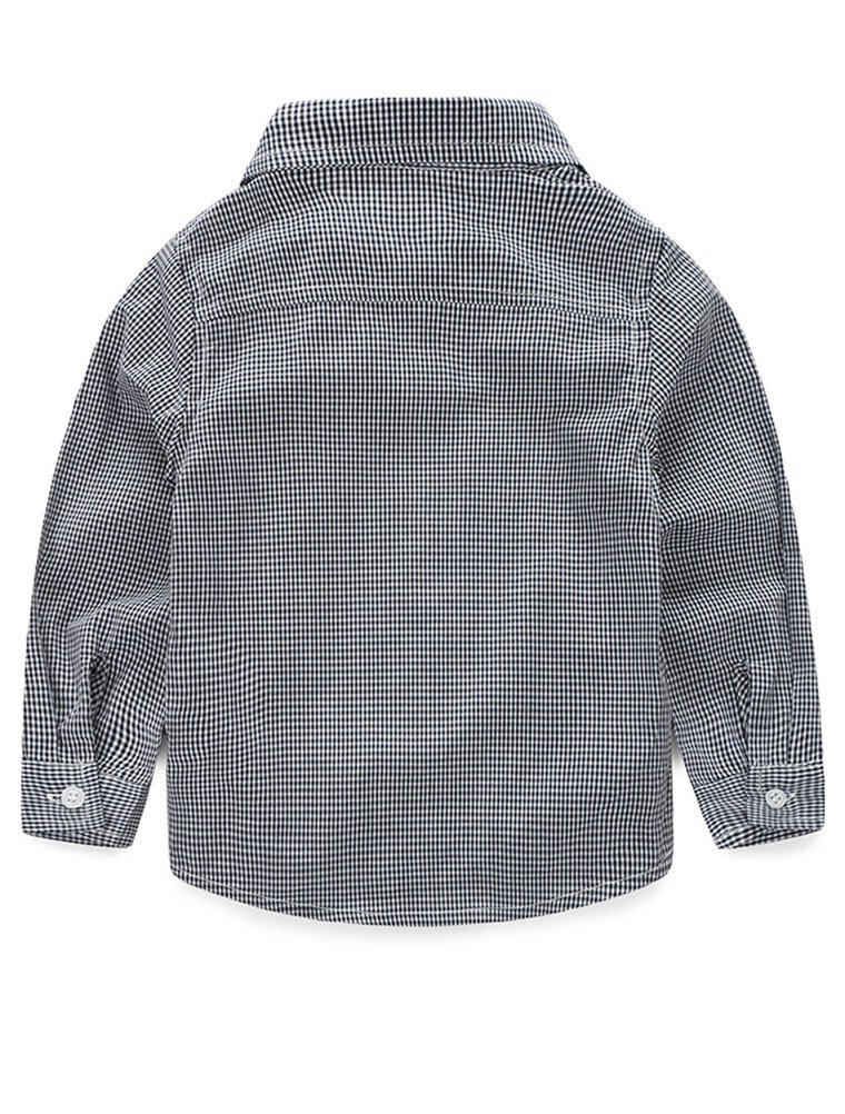 Abolai Baby Boys' 3 Piece Vest Set with Shirt,Vest and Pant Grey 80 by Abolai (Image #4)