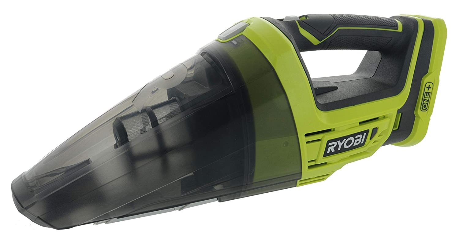 18V Lithium Ion Battery Powered Cordless Dry Debris Hand Vacuum with Crevice Tool Batteries Not Included // Power Tool Only Ryobi P7131 One