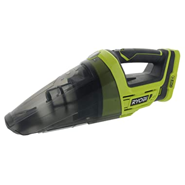 Ryobi P7131 One+ 18V Lithium Ion Battery Powered Cordless Dry Debris Hand Vacuum with Crevice Tool (Batteries Not Included / Power Tool Only)