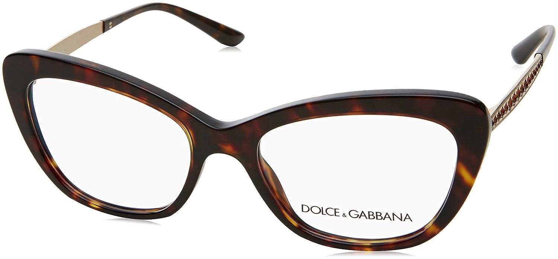 1179adf2ff De alta calidad Dolce & Gabbana 0Dg3275B, Monturas de Gafas para Mujer,  Havana,