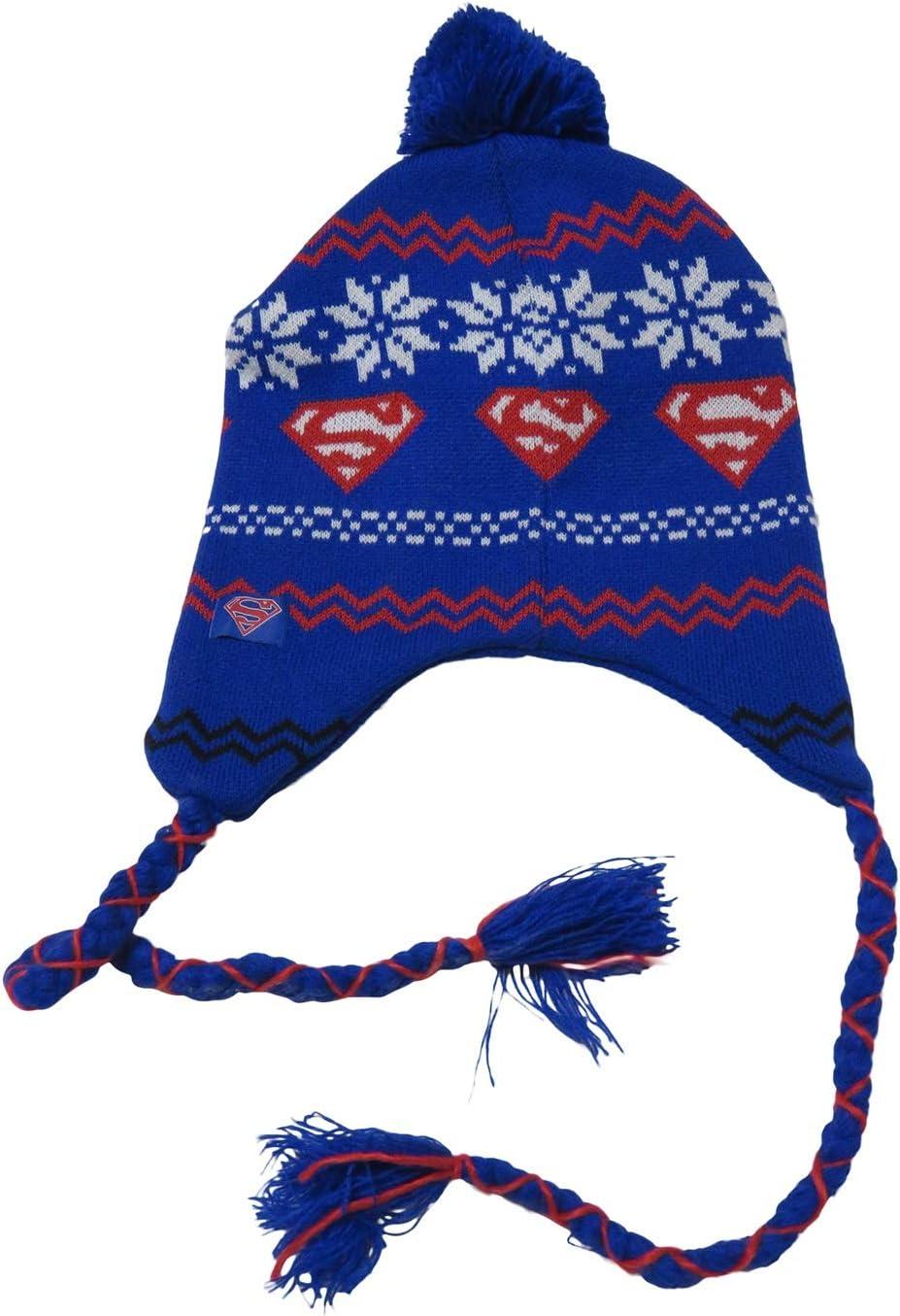 Superman Fair Isle Peruvian Laplander Hat Licensed New DC Comics
