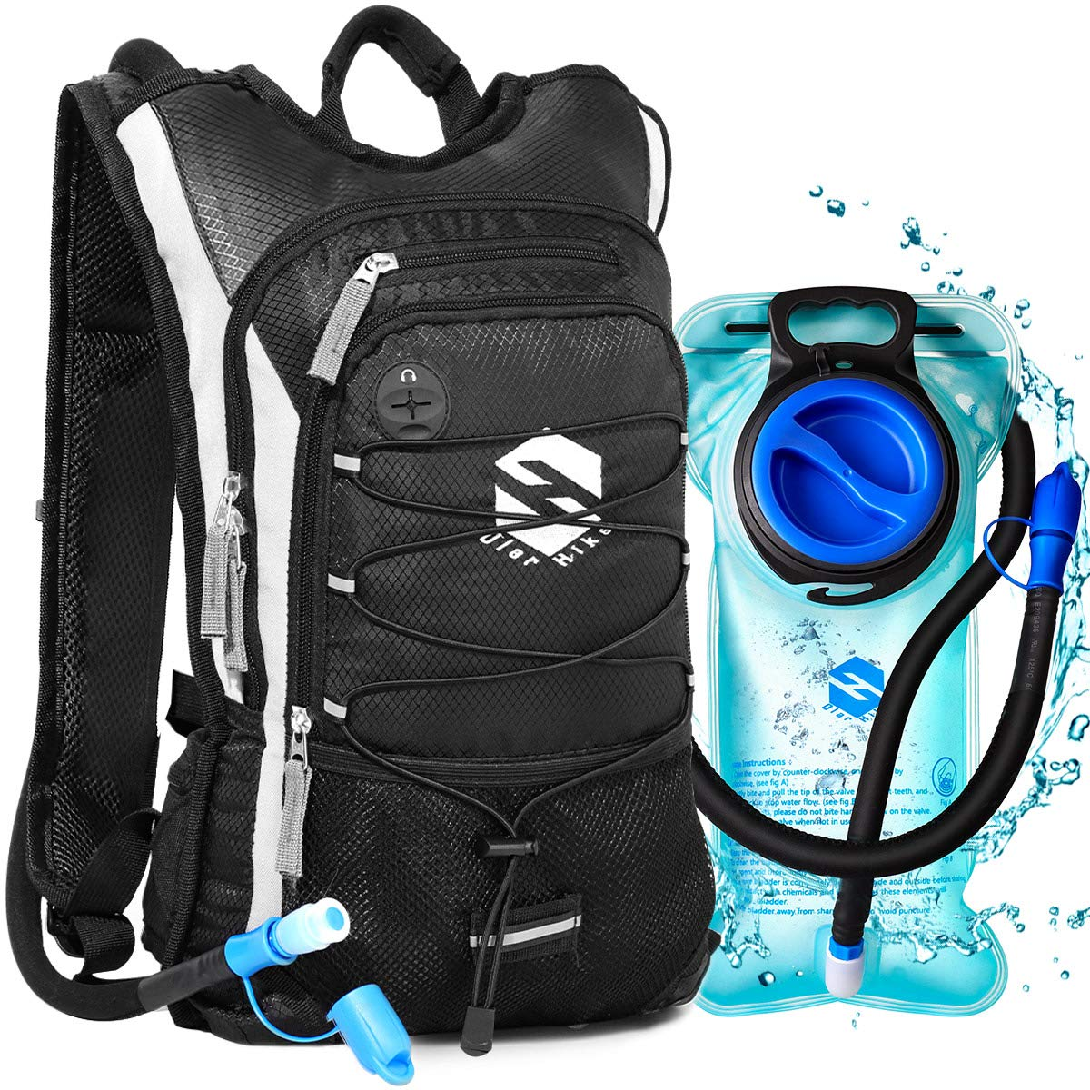 OlarHike Hydration Backpack Pack with 2L BPA Free Leak-Proof Bladder, Insulated Water Backpack for Hiking,Biking,Running,Camping by OlarHike