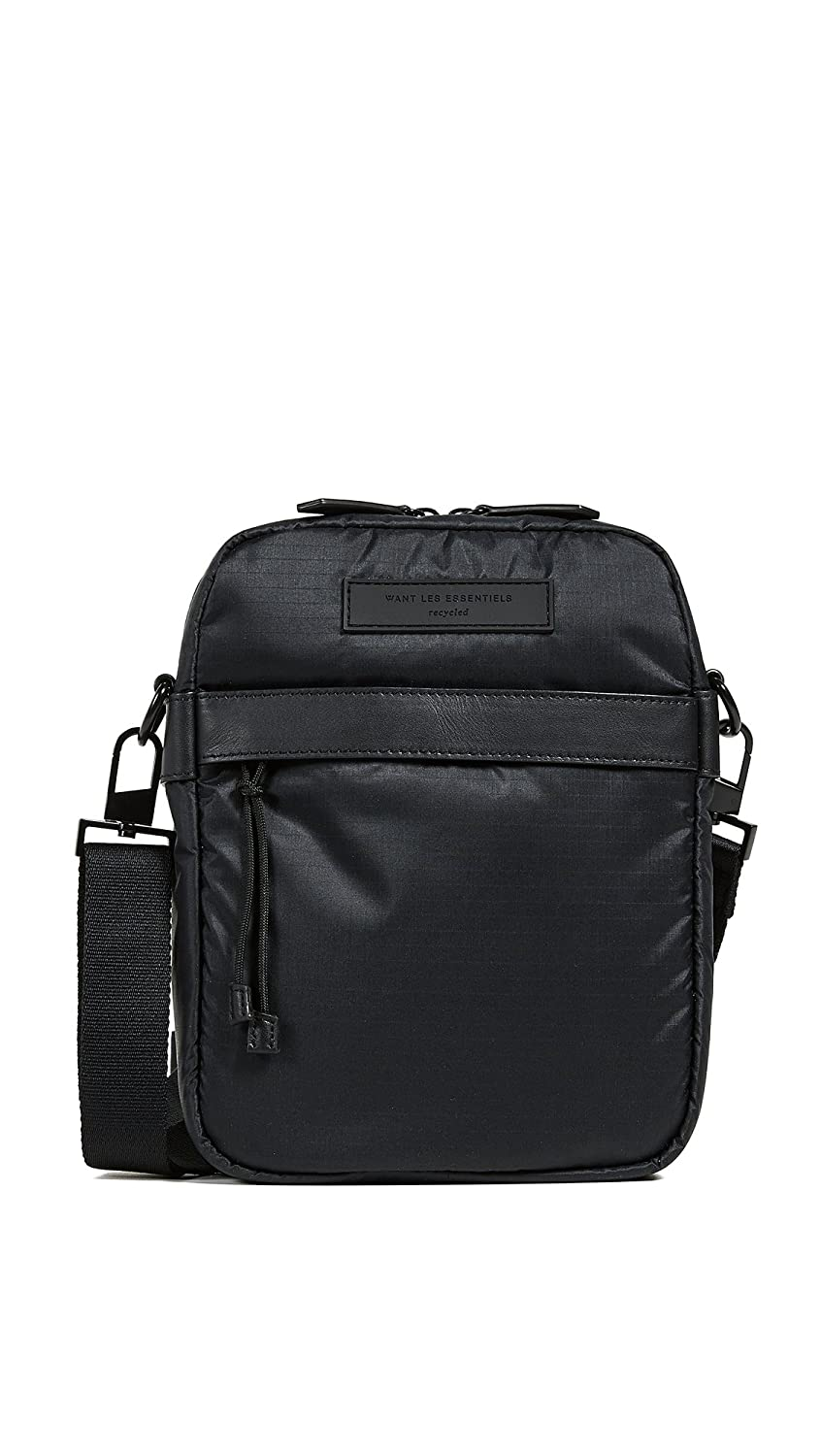 WANT Les Essentiels Mens Bryce Cross Body Messenger Bag Black One Size