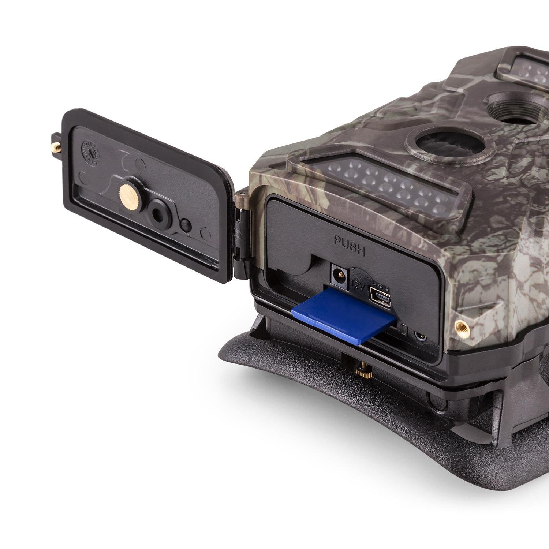 -LCD-Display /• wetterbest/ändiges Geh/äuse /• 40 Black LEDs /• 12 Megapixel /• interner Lautsprecher /• Full HD /• inkl Duramaxx GRIZZLY Mini GSM Wildkamera /• Fotofalle /• 5 cm Batteriepack /• camouflage 2