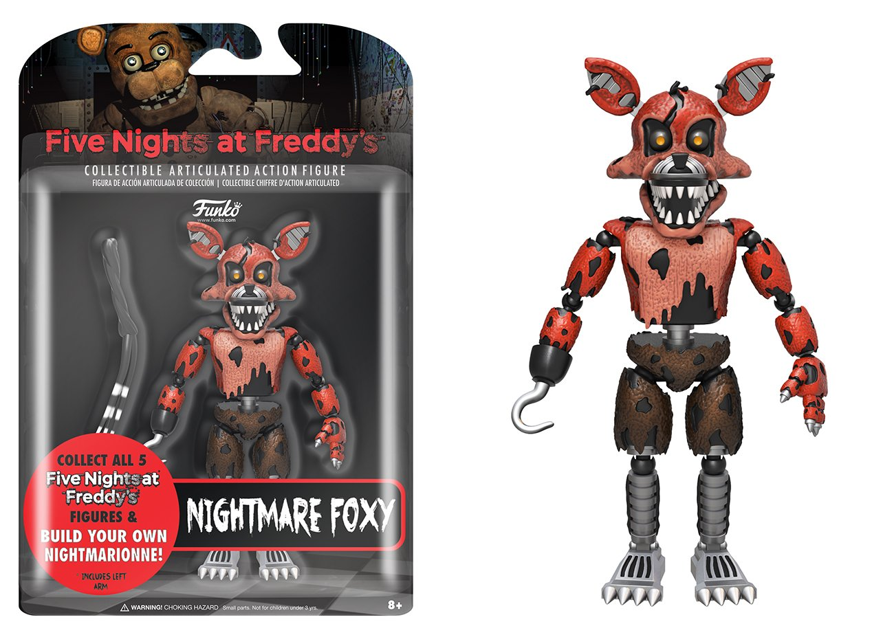 Five Nights At Freddys Funko 11846 ARTICULATED ACTION FIGURE Nightmare Foxy