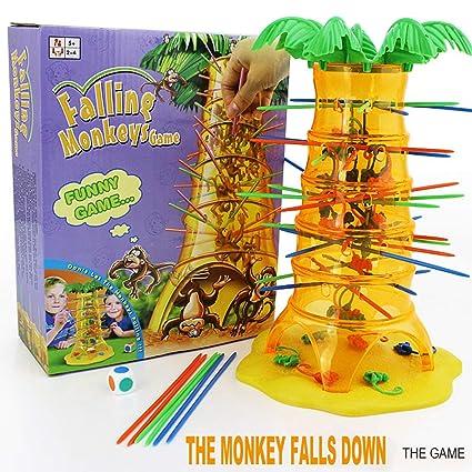 Juego de mesa de interacción para niños con monos que se caen ...