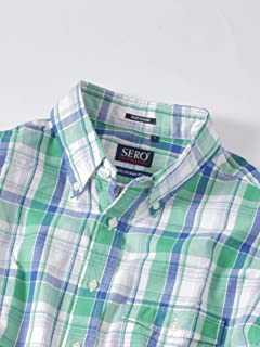 Madras Buttondown Shirt 121-17-0025: Green