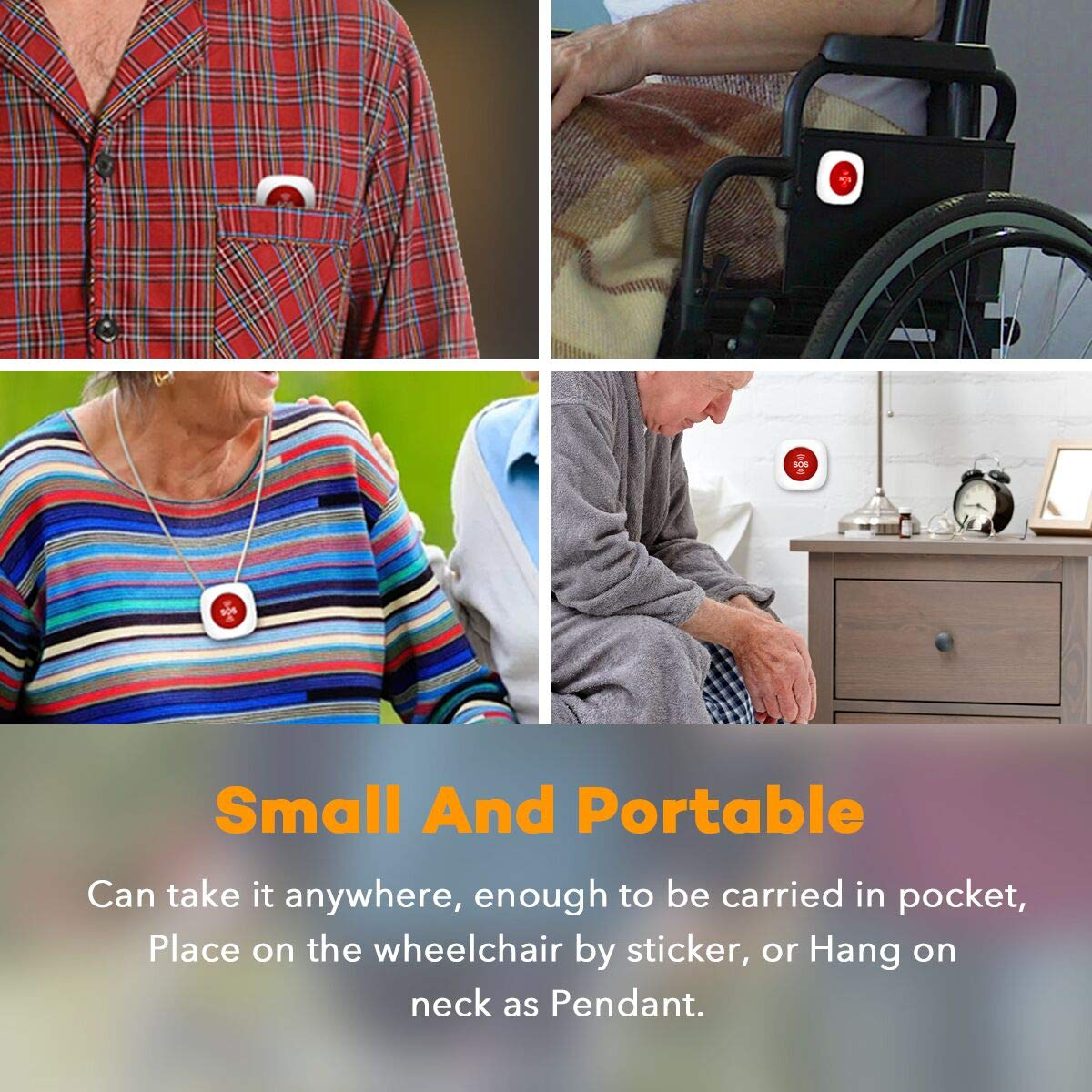 Amazon com: KUCHOOWHA Wireless Caregiver Pager Receiver - GSM SIM