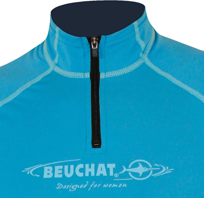 Size M /0 Beuchat/ /Bionic Elastan S//S Rash Guard Blue/