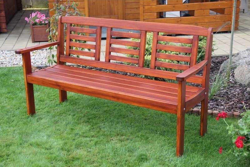 Massivholz Gartenbank Lonus , Kiefer , unbehandelt , B 186 cm , Holzstärke : 28 mm
