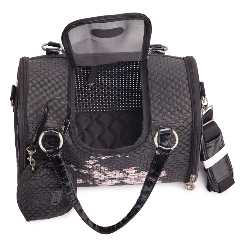 Zaino per Animali Domestici Borsa per per per Animali da Compagnia Teddy Backpack out Single Diagonale Borsa da Viaggio Portatile Borsa per Cani Cat Bag. Traspirante (colore   Nero) c78d7c