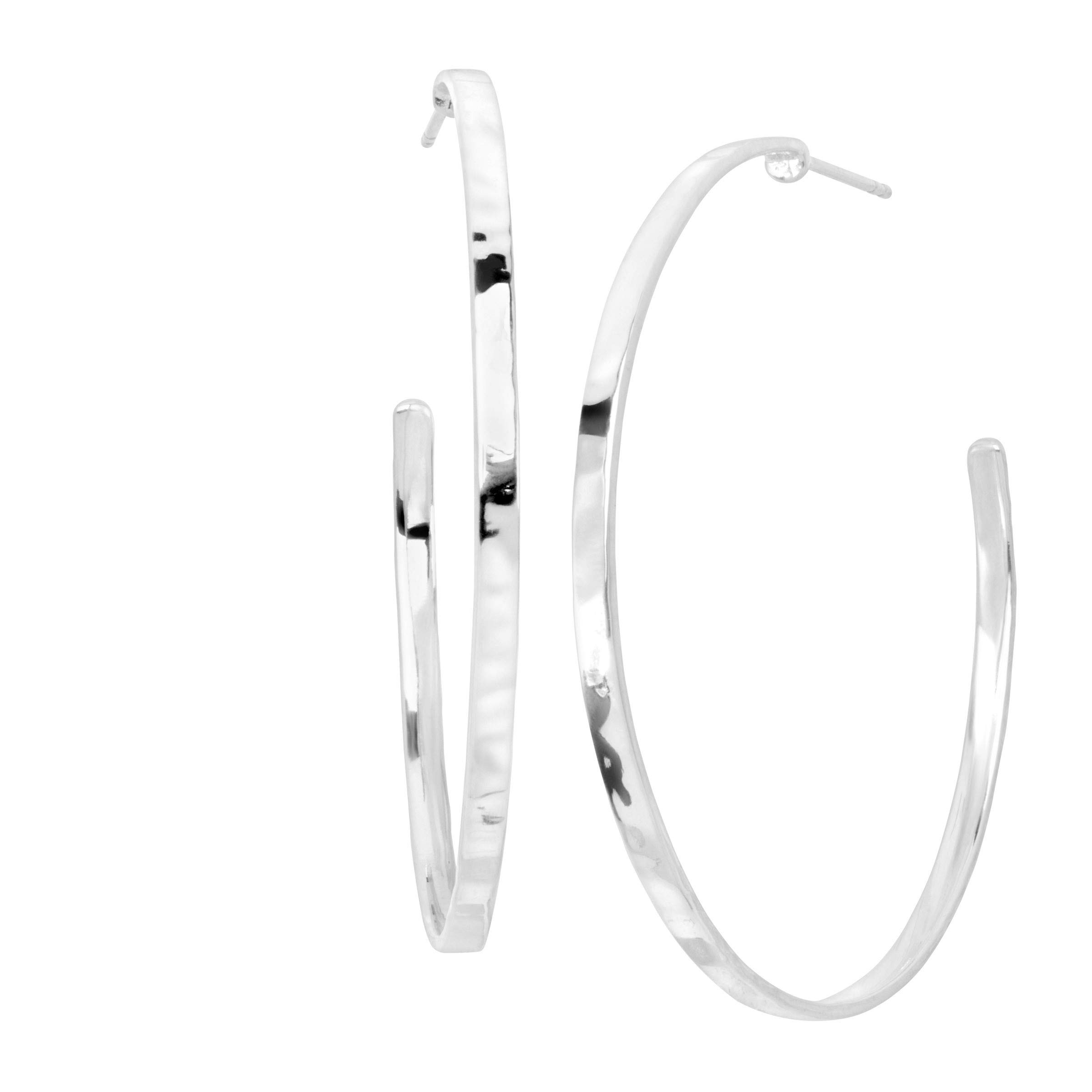 Silpada 'Circle Up' Hammered Hoop Earrings in Sterling Silver by Silpada