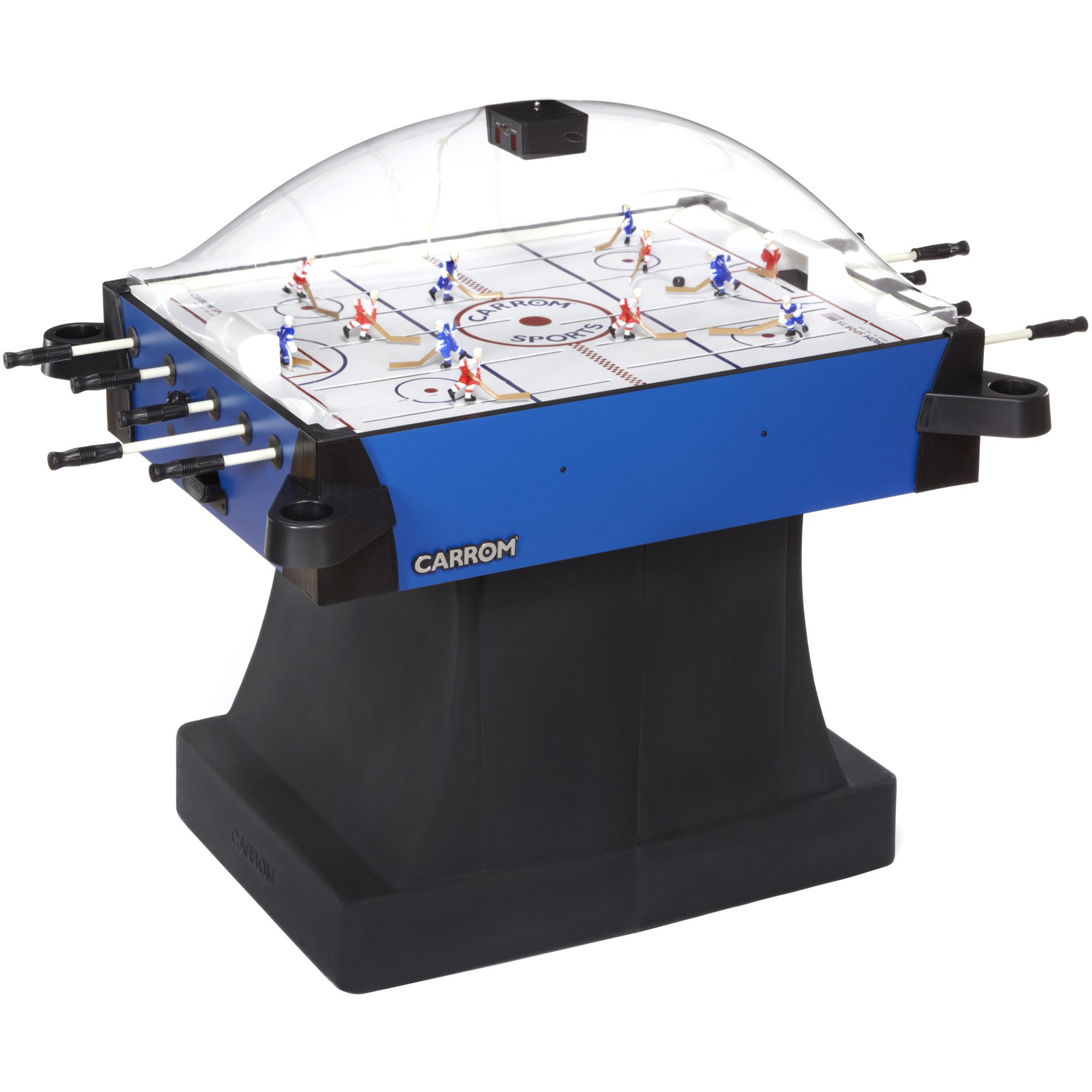 Carrom 435.01 Signature Stick Hockey Table with Pedestal (Blue) by Carrom