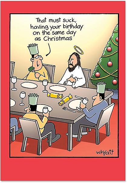 Amazon.com: B1690 Box Set of 12 Birthdayk Unique Funny Christmas ...