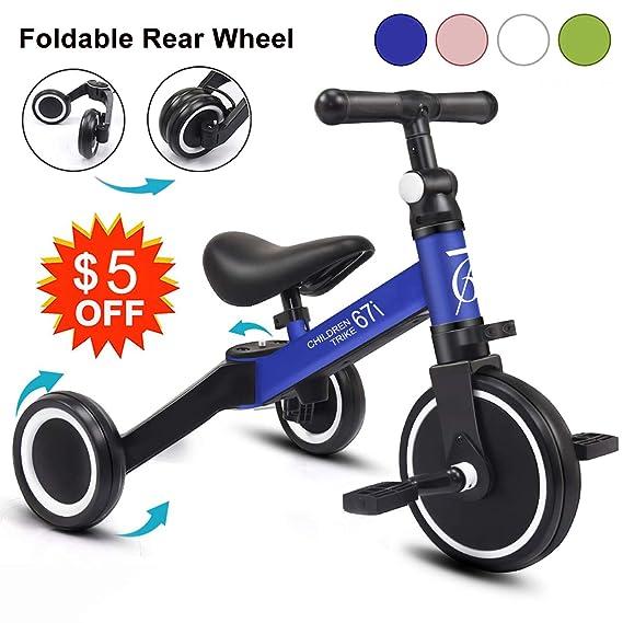 Amazon.com: 67i Kids Triciclos para niños de 2 años 3 en 1 ...