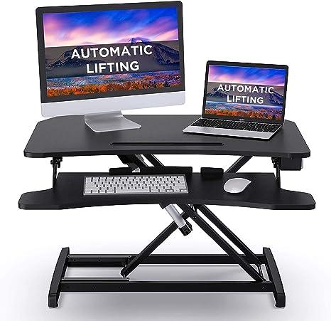Abox Electric Lifting Standing Desk Converter Computer Desk Laptop Stand For Desk Gaming Desk 34 Sit