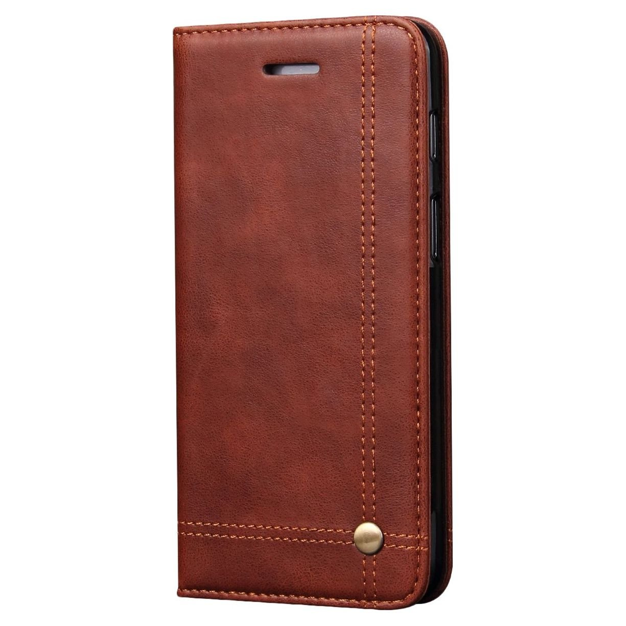 Pirum Magnetic Flip Cover for Oneplus 6 One Plus 6 - Leather Case Wallet Slim Folio Book Cover with Credit Card Slots Cash Pocket Stand Holder - Brown (B07DFTN75Y) Amazon Price History, Amazon Price Tracker