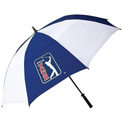PGA Tour PGAT10 - Paraguas resistente al viento doble varilla de golf