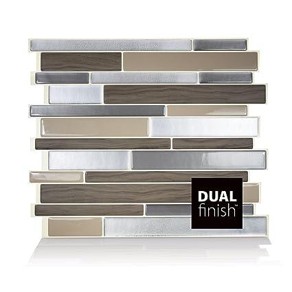 Smart Tiles Milano Lino Dual Finish 3D Gel-Otm Piastrelle Adesive ...