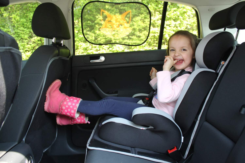 UV Sonnenschutz Auto 30x48 cm Zwinkerfuchs selbsthaftend schwarz Baby