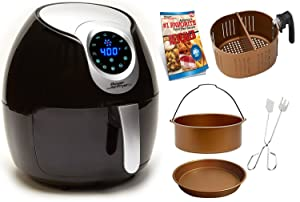 Power Air Fryer XL AF-530-5.3 5.3 QT Deluxe, Black