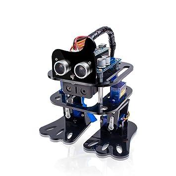Sunfounder Arduino Nano Diy 4 Dof Robot Kit Sloth Learning Kit Programmable Robot Kit Dancing Robot Ultrasonic Sensor Electronic Toy With Detailed