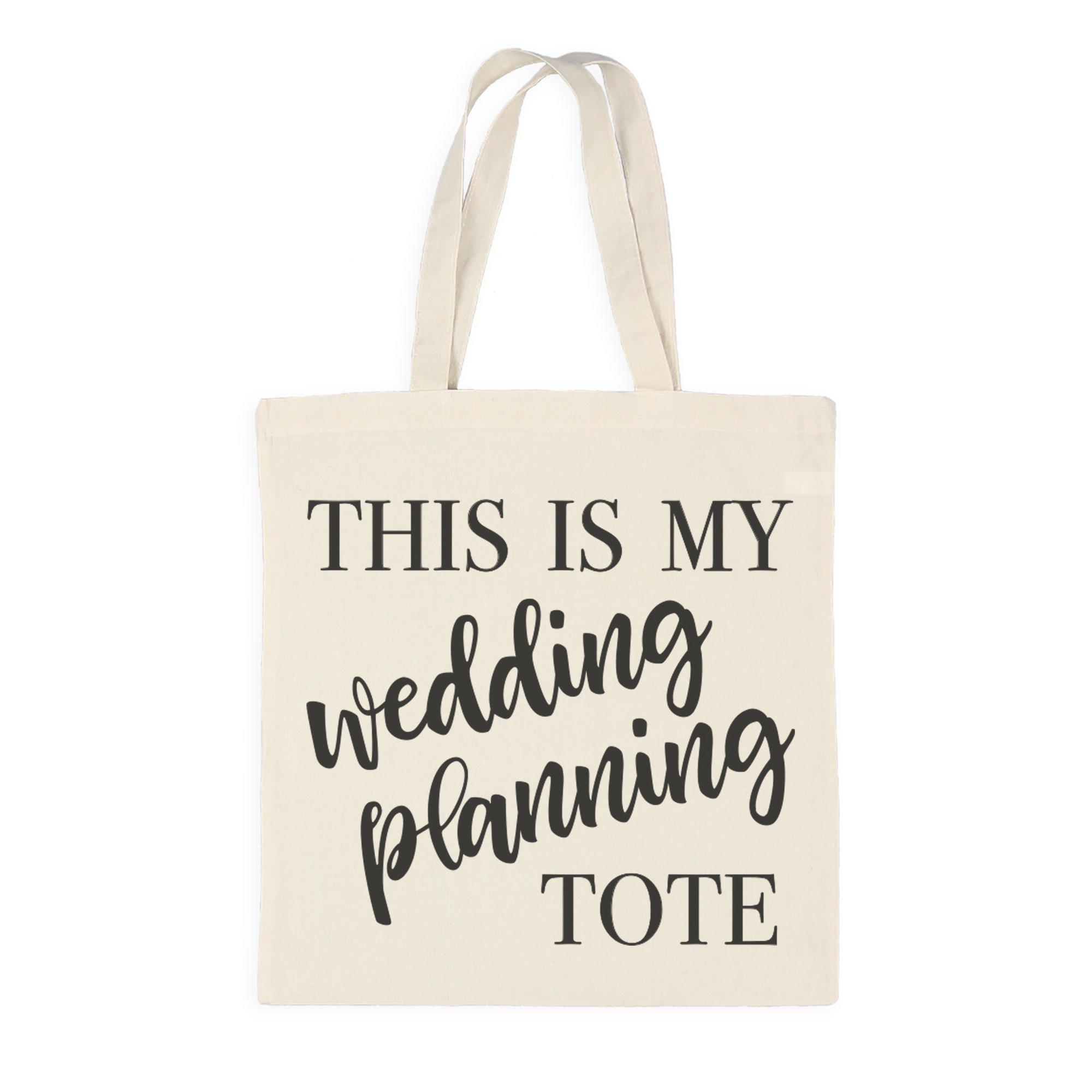 Ivy Lane Design AM1052 Cotton Tote Bag, Wedding Planning