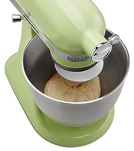 The Artisan Mini can even mix bread dough