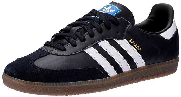 adidas Samba Og Herren Schuhe Schwarz mit Weißen Streifen