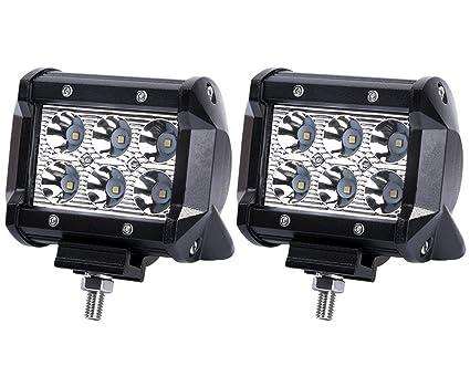 Amazon led lights bar 4 18w 1800lm spot light bar work lamp led lights bar 4quot 18w 1800lm spot light bar work lamp great for off aloadofball Images