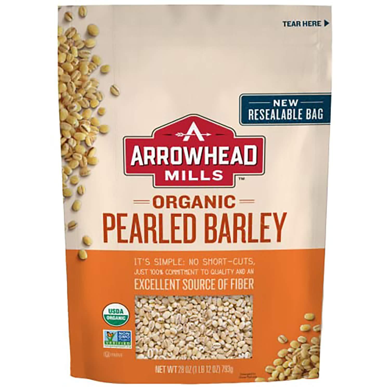 Arrowhead Mills Organic Pearled Barley, 28 oz. Bag (Pack of 6), 1.75 Pound (Pack of 6) (7433347618)