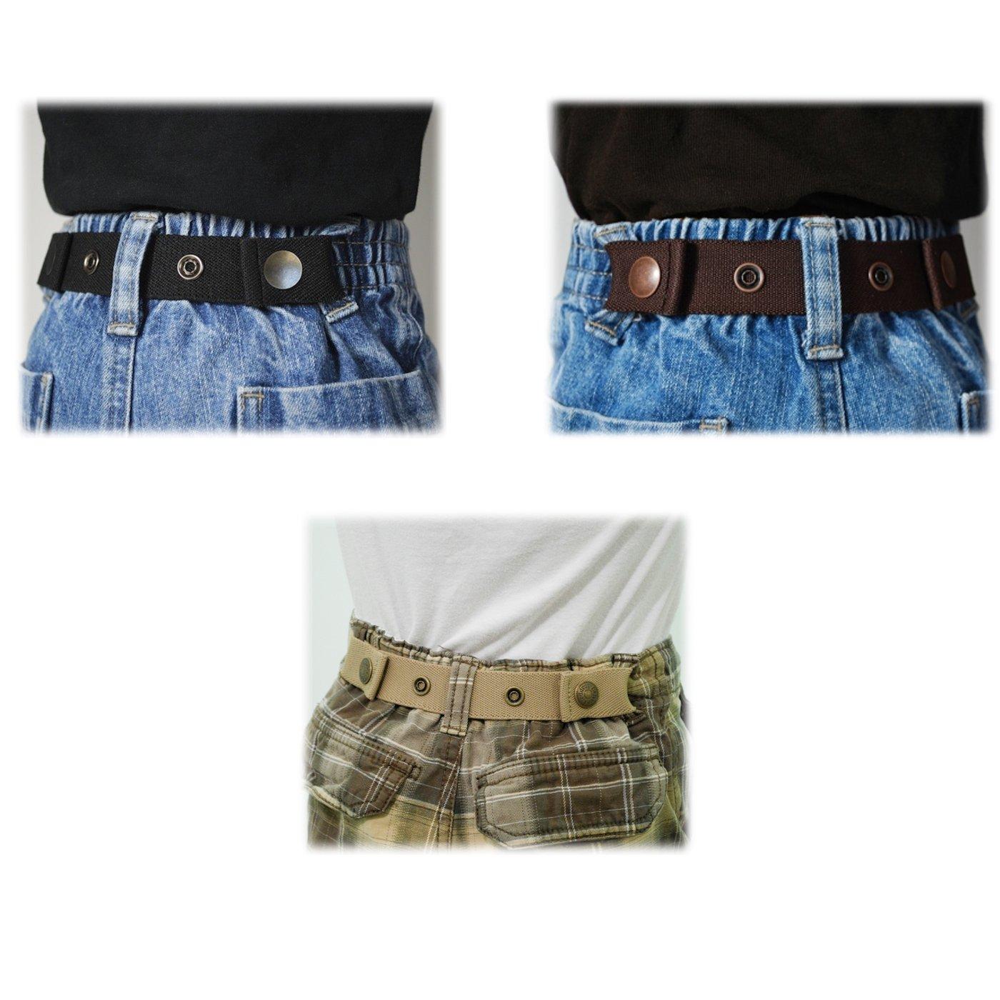 Dapper Snapper Baby & Toddler Adjustable Belt- Boys Colors: Black, Chocolate, and Beige