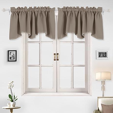 Amazon.com: Deconovo Decorative Rod Pocket Blackout Curtains ...