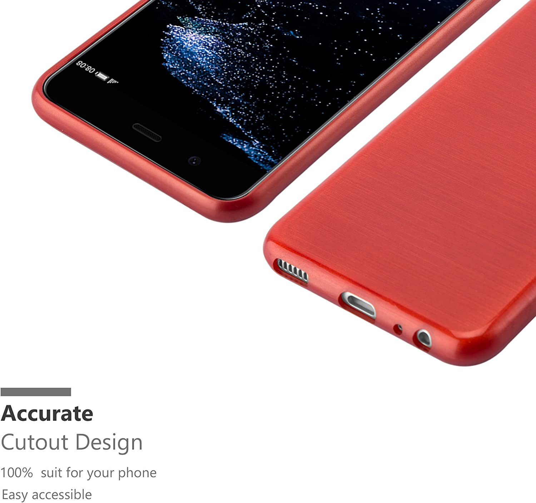 Cadorabo Coque pour Huawei P10 en Bleu Housse Protection Souple en Silicone TPU avec Anti Rayures Ultra Slim Fin Gel Case Cover Bumper Choc et Anti