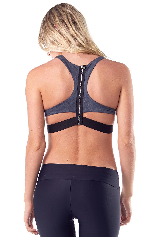 Blue Life Fit Zip It Sportsbra-BLF Grph Wash-Medium (M) Womens Active Workout Bra Grey