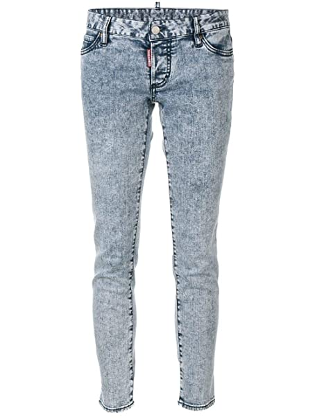 cba77a4f2fb DSQUARED2 Mujer S72LB0174S30342470 Gris Algodon Jeans  Amazon.es  Ropa y  accesorios