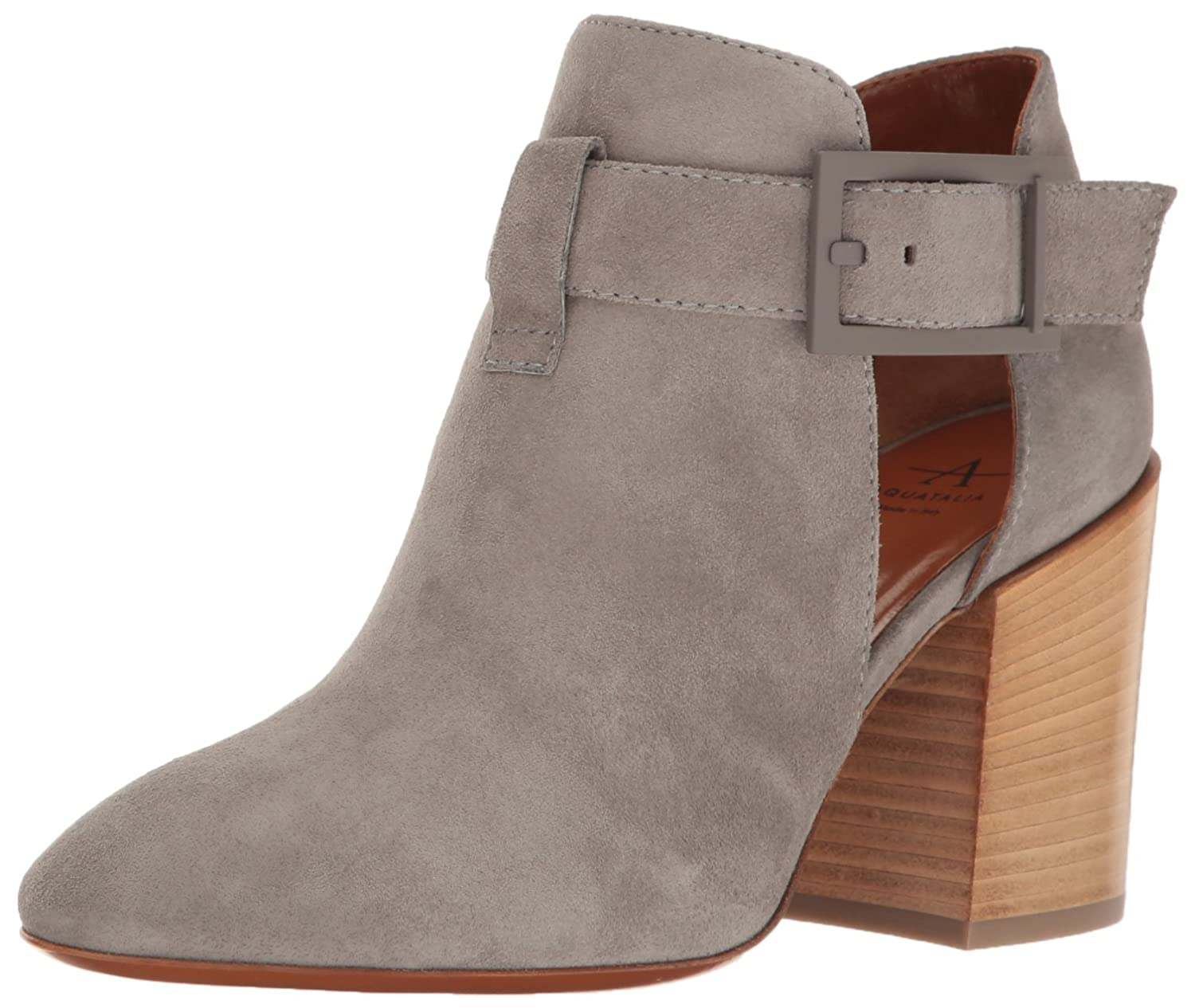 Aquatalia by Marvin K.... Women's Freddi Suede Ankle Bootie B01MECY342 8 B(M) US|Ash