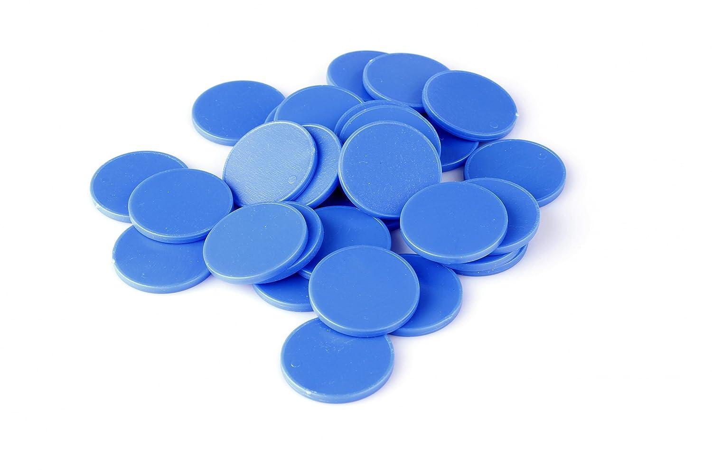 Jetons de Caddie 1Euro et jeton en 7couleurs utilisable comme monnaie de jeu et pour automates de jeu, Plastique, Bleu gentiane, 100 Stück