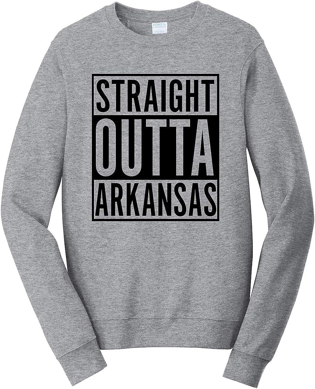 Tenacitee Unisex Straight Outta Arkansas Sweatshirt