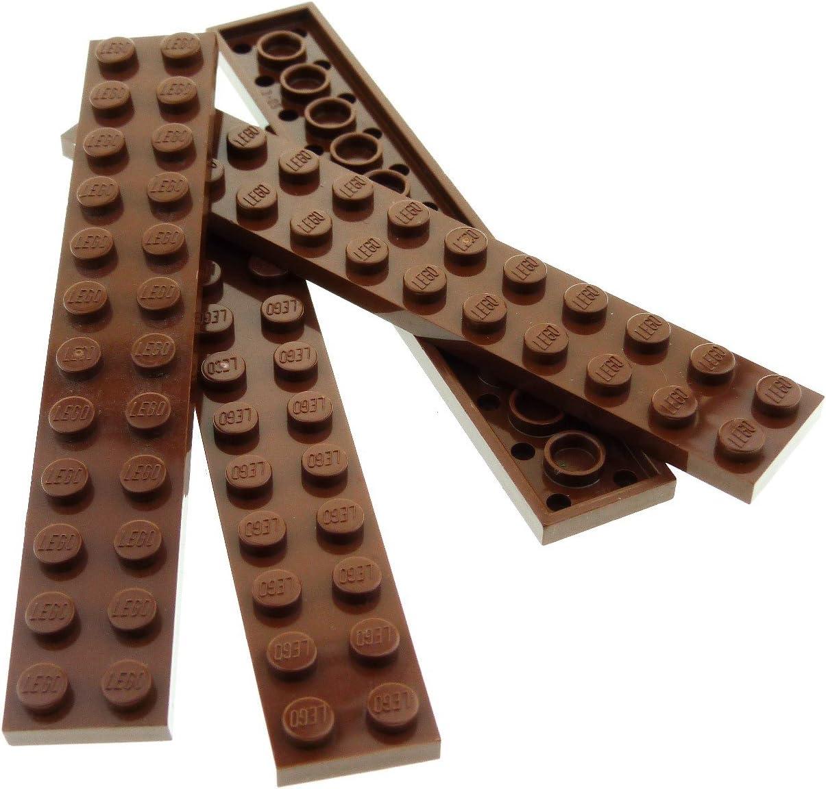 LEGO 8 X PIASTRA bauplatte piatto 2445 NERO 2x12