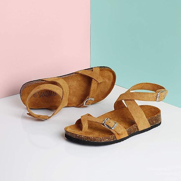 Sandalias de Corcho Ajustables Mujer