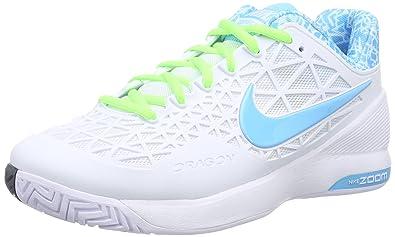 the best attitude a0d54 1c112 Nike Nike Zoom Cage 2, Damen Tennisschuhe, Weiß (WeißBlitz-Limone