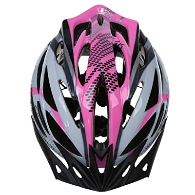 SODIAL(R) Casque de velo Casque de bicyclette casque de protection reglable Rose Taille L