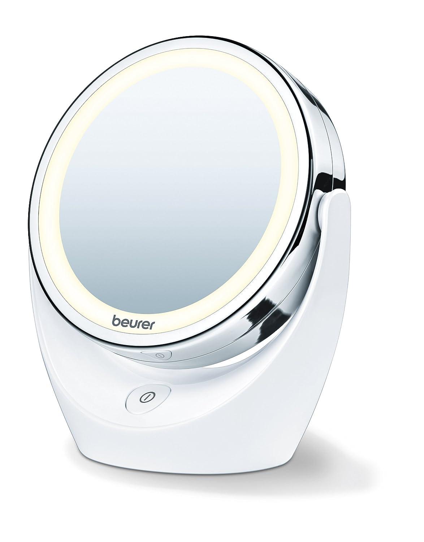 Beurer BS 49 - Espejo maquillaje con uz LED, 17,5 x 19 x 10 cm [Clase de eficiencia energética A++] BS49 espejos cosméticos espejos de pie espejos pivotantes