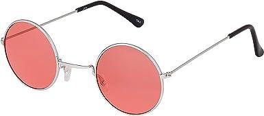 NICE John Lennon Style Lunettes De Soleil Teintées Coloré Rose Ronde Lunettes