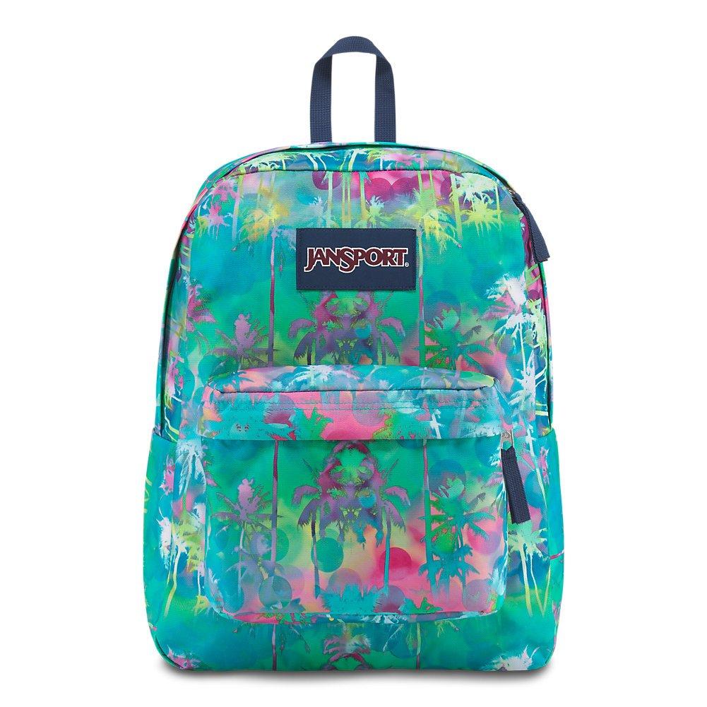 JanSport Superbreak Backpack - Electric Palm - Classic, Ultralight